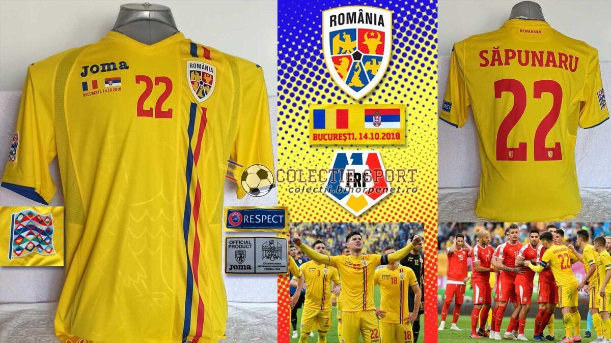 Tricou oficial joc Joma, România - Serbia, 14.10.2018 - Liga Națiunilor