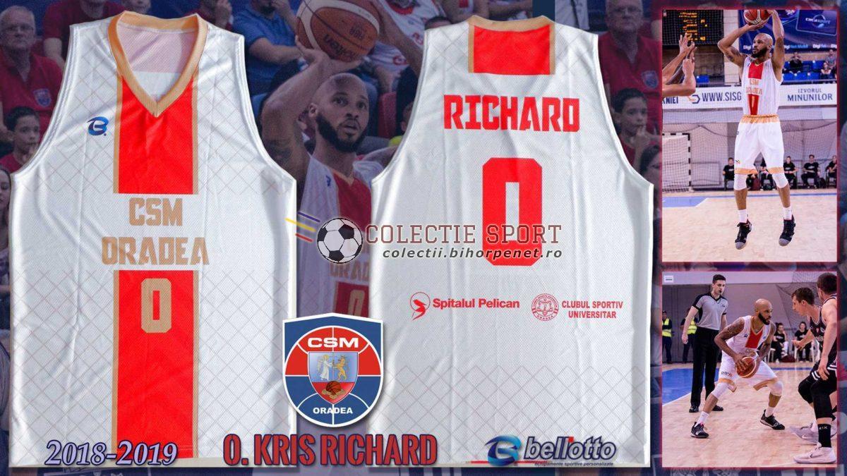 Maieu oficial CSM Oradea 2018-2019, Bellotto, 0. Kris Richard, varianta pentru cupele europene
