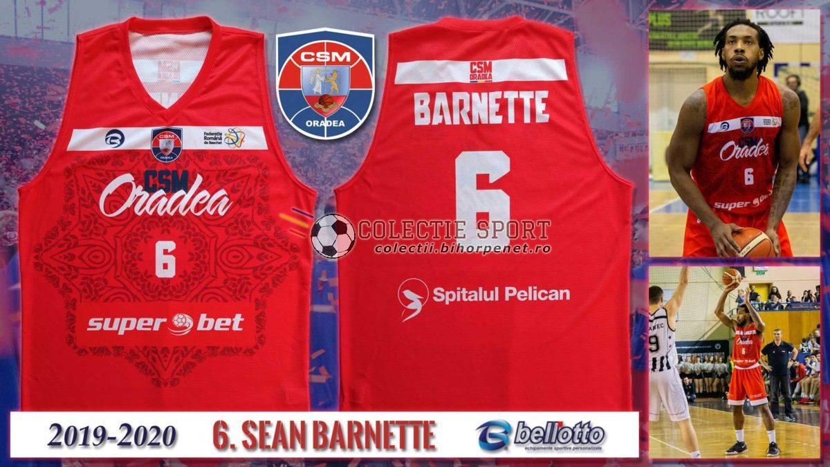 Maieu oficial de joc CSM Oradea 2019-2020, Belloto, 6. Sean Barnette.