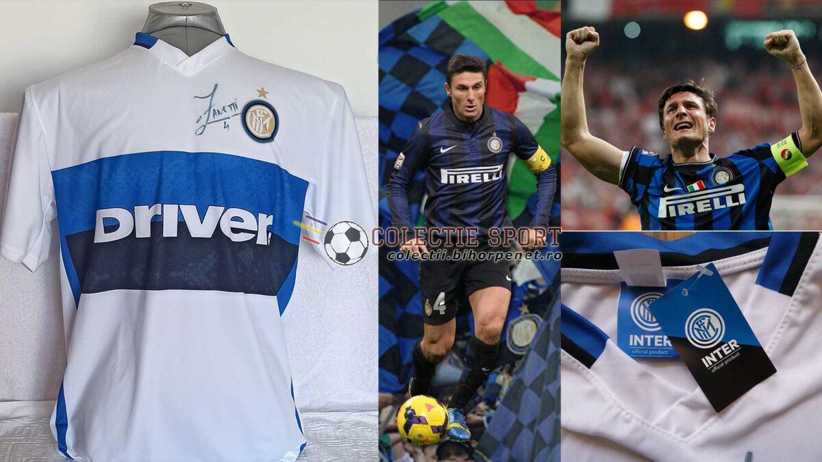 Tricou replică oficial Inter Milano cu semnătura lui Javier Zanetti