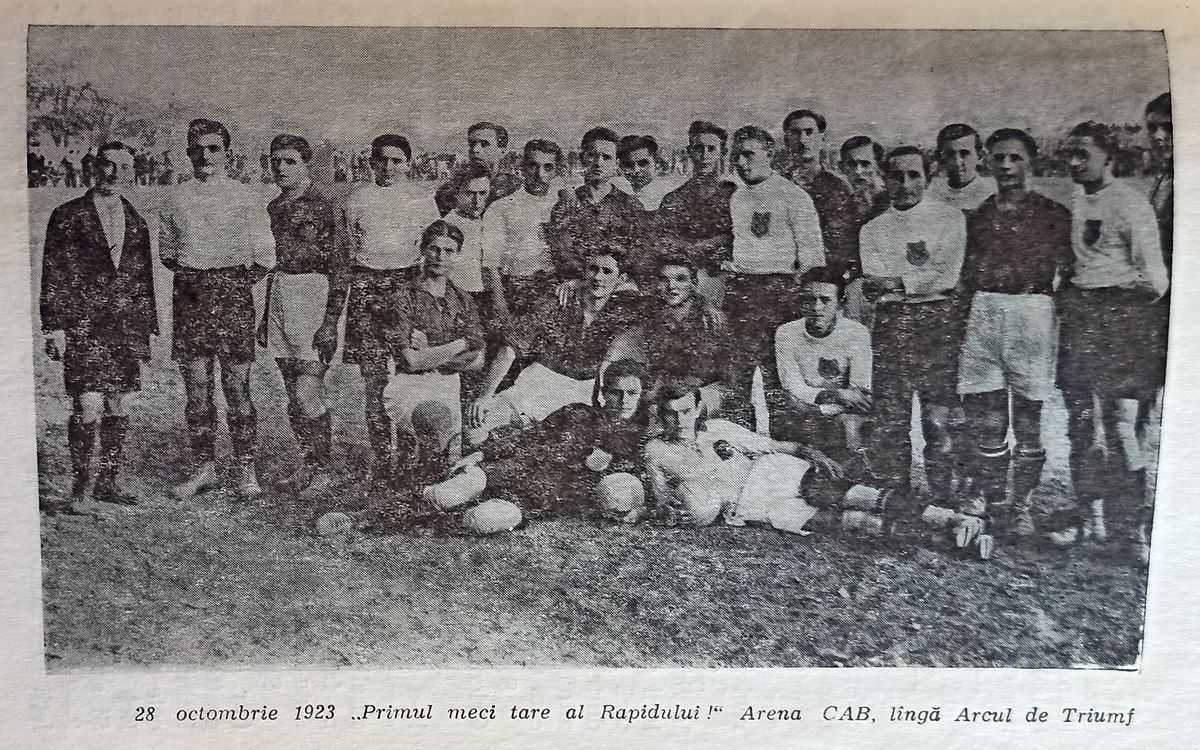 28 octombrie 1923 – primul meci al Rapidului