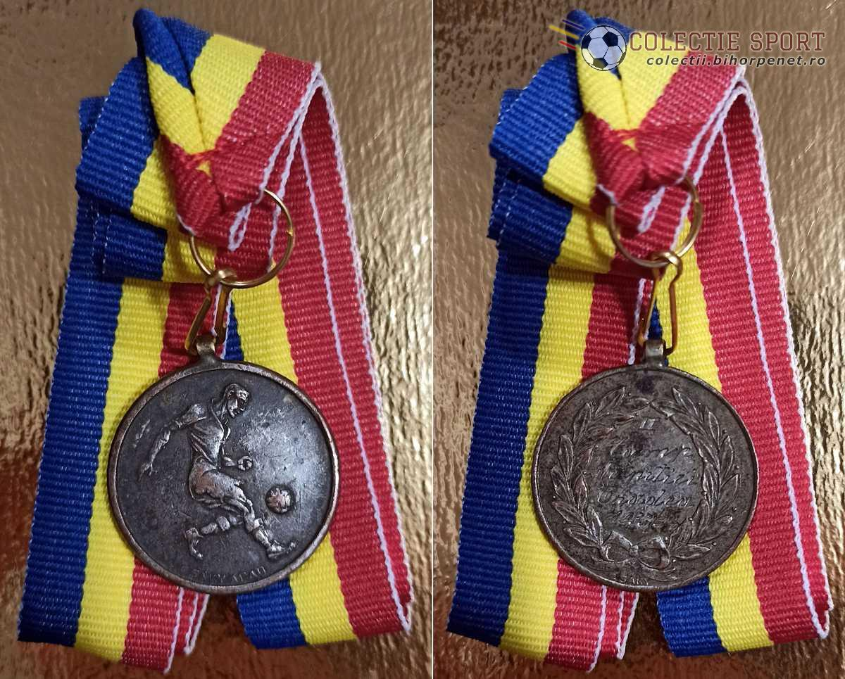 Medalie fotbal Campionatul de pitici Oradea 1933-1934