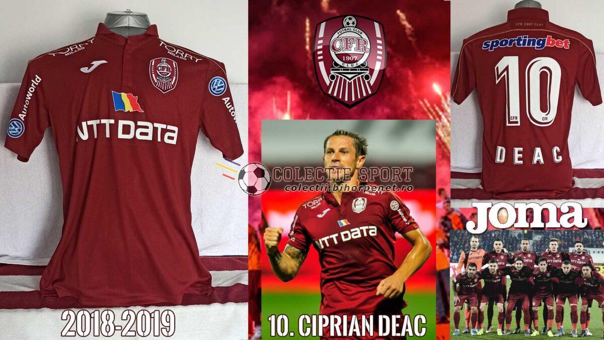 Tricou shop CFR Cluj 2018-2019, Joma, 10. Ciprian Deac.