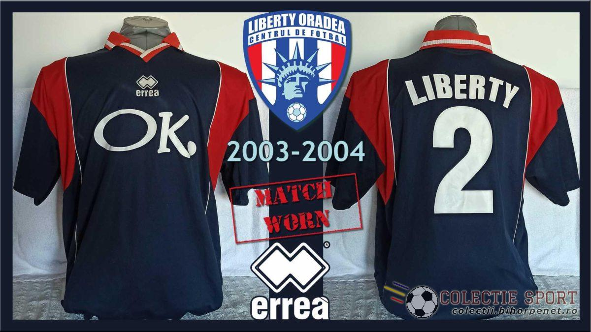 Tricou de joc CF Liberty Oradea, Errea, 2003 - 2004