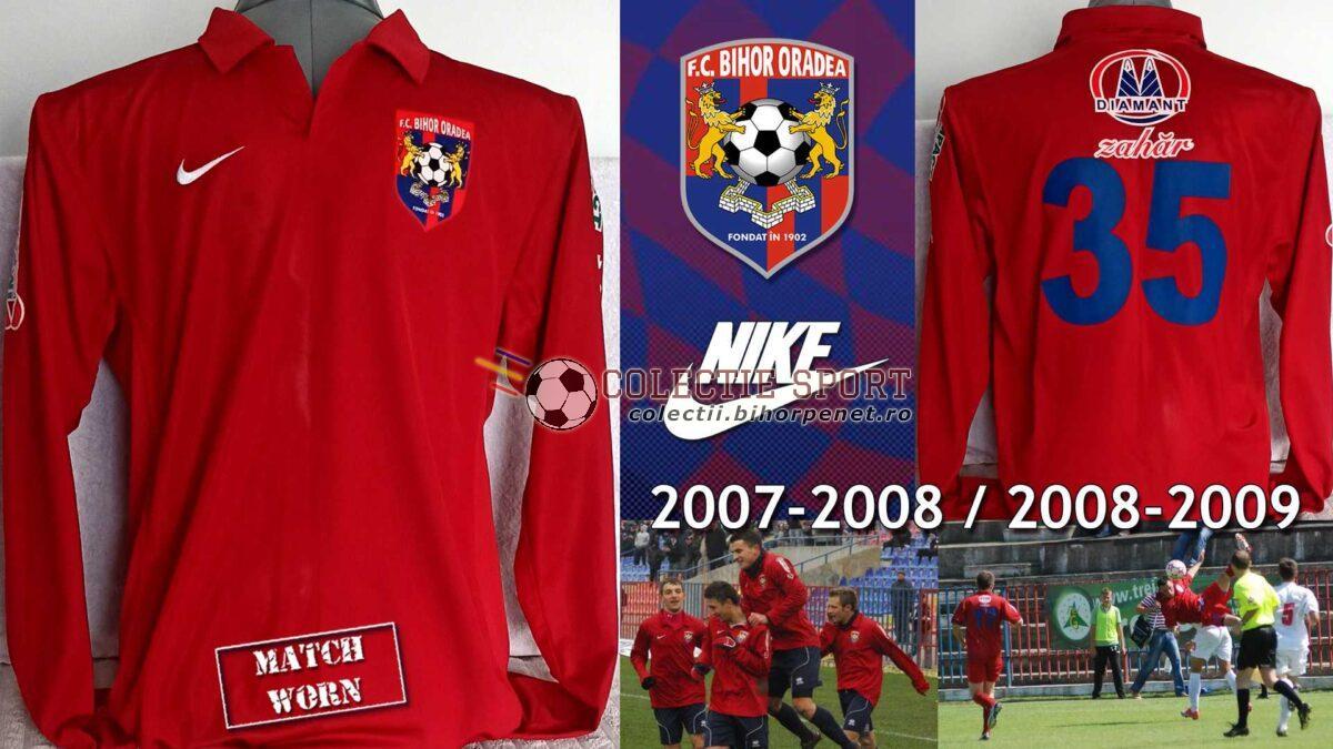 Tricou de joc FC Bihor Oradea, 2007-2008 / 2008-2009, Nike. Foto credit: liga2.prosport.ro