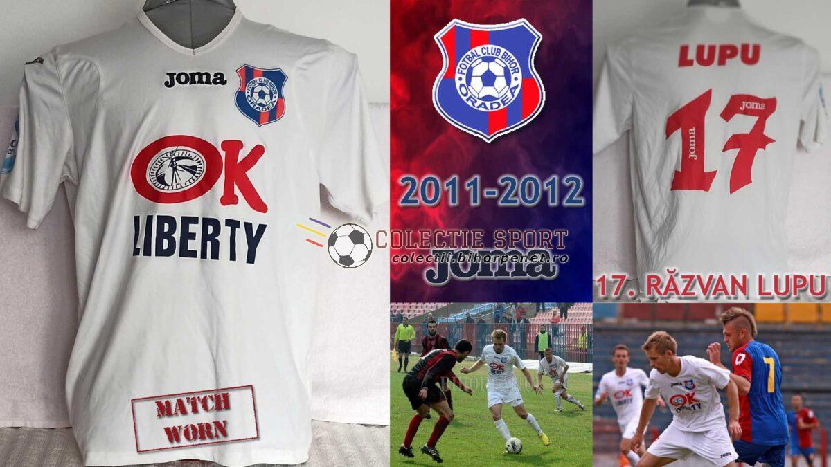 Tricou de joc FC Bihor Oradea, 2011-2012, Joma, 17. Răzvan Lupu. Foto credit: www.ebihoreanul.ro / liga2.prosport.ro