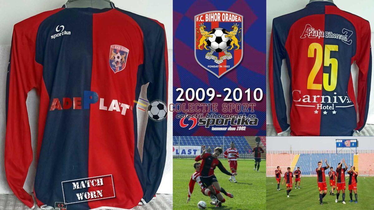 Tricou de joc FC Bihor Oradea, 2009-2010, Sportika. Foto credit: https://grigorejucan.wordpress.com/
